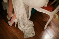 My bridal Shoes #wedding #louboutin