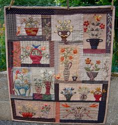 Yoko Saito Floral Bouquet quilt by BusyBeeFree