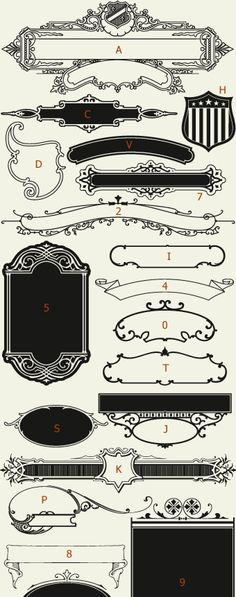 Letterhead Fonts / LHF Centennial Panels 2 / Decorative Panels