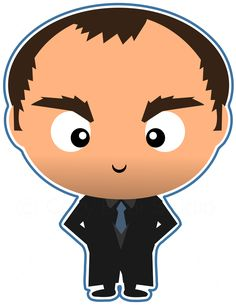 Crowley the demon from Supernatural. Always with the sharply tailored suits. Too bad they always get holes in them.  Check out all the character clipart we've made from Supernatural in our new Etsy shop.