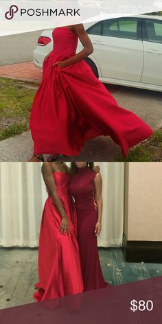 Prom dress/Ball Gown ( Price Negotiable) Red beautiful dress great price but price can be negotiated. worn once. David's Bridal Dresses Prom