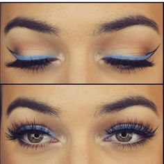 Mannymua custom using KatVonD periwinkle eyeliner