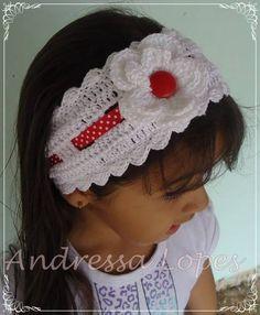 faixa infantil em crochê.