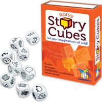 Rory's Story Cubes-I played this with a four year old at a friend's party. Fun game! They learn new words and use their imagination to create stories. And interesting enough for adults too!