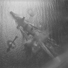 14 in Japanese battleship Yamashiro under air attack shortly before the Battle of Surigao Strait in October 1944: she was damaged by several near misses.  The battle itself was the last ever engagement between capital ships, both Yamashiro and her sister Fuso being sunk by modernised US dreadnoughts.