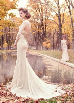 Find this Ivory bridal gown by Lazaro at Gigi's of Mequon!