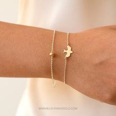 Ultra Beautiful Dove Bird Bracelet. The classic Dove symbolic for peace, grace, and elegance. This Bracelet is simply a beautiful piece.  You can also get the Set of 2 in photo 1 or the Set of 3 in photo 3. - Just select from the Material / Set drop down. - If you are getting the cuff, please see below for sizing and stamping option.  ---------------------------------  FULL DESCRIPTION  - The Dove is about 1/2 in width. - Available in 14kt Gold-filled Rose Gold-filled, or Sterling Silver…