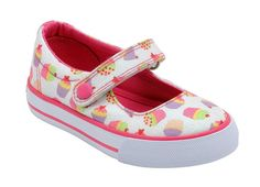 Cupcake - Girls Patterned Canvas Shoes that are machine washable and extremely funky!