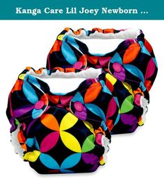 Kanga Care Lil Joey Newborn 2-Pack All-in-One Cloth Diaper in Jewel. Keep your newborn extra dry and comfy in Kanga Care Lil Joey Cloth Diapers. The simple diapering system offers a unique dual gusset design for double barrier protection and 4 layers of absorbent microfiber. Its snap down front ensures sensitive cord care. Product Features: Snap down front provides extra-gentle sensitive cord care Hypoallergenic no-pill microchamois lining Fits newborns 4-12 lb. 2 rows for snap closure...