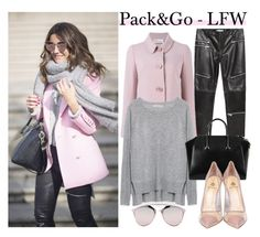 """""""Pack&Go - LFW"""" by elenaday ❤ liked on Polyvore featuring mode, Zara, RED Valentino, Givenchy, Semilla, Christian Dior, women's clothing, women, female et woman"""