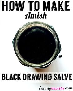 Learn how to make your own drawing salve using this homemade amish drawing salve recipe!