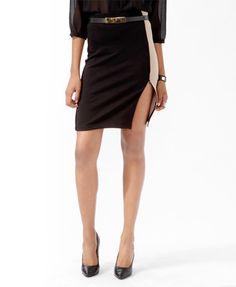 Colorblocked Zippered Slit Skirt  $14.80  Forever 21