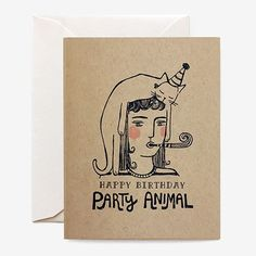 This duo is either partied out or out of parties. Choose between a white card with kraft envelope, or a kraft card with white envelope. single folded card, blank interior SIZE: x PAPER Birthday Present For Husband, 21st Birthday Cards, Happy Birthday Parties, Girlfriend Birthday, Mom Birthday Gift, Birthday Nails, Birthday Ideas, Animal Birthday, Dinosaur Birthday