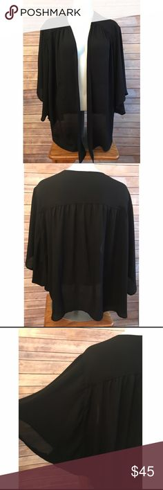NWT! Sejour Black Shrug. New with tags. Sejour black shrug. Size 2x. Have any questions? Please ask. Sejour Tops