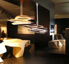 vortexx chandeliers by zaha hadid