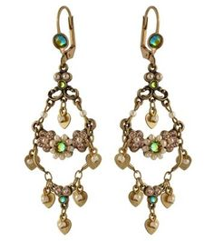 Michal Negrin Classic Crystal Flower Hook  Earrings  - 100-121651 part of our full line of Michal Negrin Earrings. This Michal Negrin jewelry item comes to you from the Michal Negrin 2010 collection.