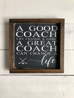 Sport quotes soccer lacrosse ideas for 2019 Hockey Decor, Hockey Room, Baseball Crafts, Hockey Quotes, Sport Quotes, Coach Gifts, Team Gifts, Coaching Personal, Life Coaching