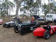 Vintage sports and racing cars meet.
