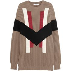 Givenchy - Chunky-knit Wool And Cashmere-blend Sweater (15,410 MXN) ❤ liked on Polyvore featuring tops, sweaters, camel, camel sweater, givenchy, woolen sweater, brown sweater and chunky knit sweater