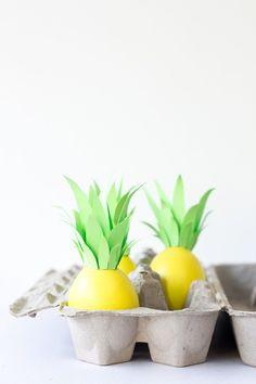 Make: Pineapple Easter eggs DIY, so cute