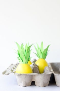 DIY Pineapple Easter Eggs  --- Mom, you and Dad need to make these this year!!!  :-)