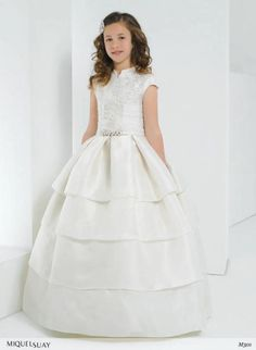 bodice and capped sleeve COMMUNION DRESS