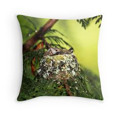 Hummingbird Pillow Mothers Day Gift by PeggyCollinsPhotoArt