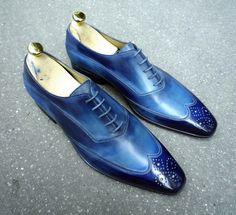 Caulaincourt shoes - White - cyclades blue