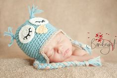 Baby Owl Hat Pattern   BEGINNER CROCHET PATTERN- Baby show gift for make it for $2!!!!!  MyNewLoveDesigns, $4.00