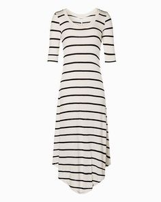 Striped Long Sleeve Summer Dress