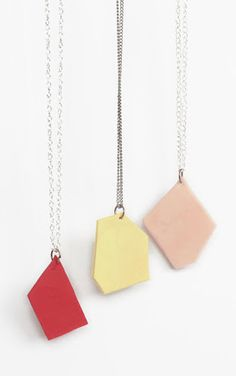 DIY Geometric Necklaces.