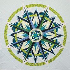 Mariner's Compass ~ Quiltworx.com, by CI Ellen Reilly