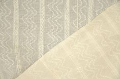 Chervron fabric. Cotton fabric with woven chevron. Unbleached Organic cotton fabric. Sheer Curtain Fabric. 44'' wide.  $7.75