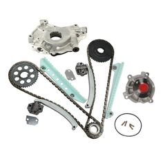 Compatible with 2002 2003 2004 2005 Ford Explorer Mercury Mountaineer 4.6L and More Timing Chain Kit with Oil Pump Water Pump