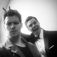 therealjosephmorgan | A thousand years old and still not acting a day over three hundred. @mr.danielgillies @therealjosephmorgan #MikaelsonFamilyAlbum