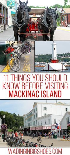 11 Things You Should Know Before Visiting Mackinac Island - Visiting Mackinac Island for the first time? Check out this list of what you can expect during your visit, plus get tips on planning your upcoming vacation! (via Wading in Big Shoes // wadinginbigshoes.com )