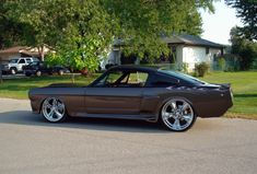 Custom Ford Mustang Fastback 1966 Pro-touring,with Foose Custom Wheels CHR Follow us on facebook http://on.fb.me/12xA1T9