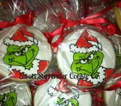 One Dozen GRINCH Sugar Cookies. $30.00, via Etsy.