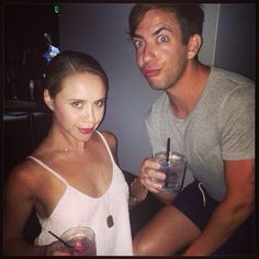 Becca Tobin and Kevin McHale at Addiction Nightclub Becca Tobin, Kevin Mchale, Nightclub, Glee, Addiction, Tv Shows, It Cast, In This Moment, People
