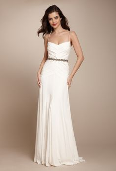 Nicole Miller Grecian Twill Gown - $699