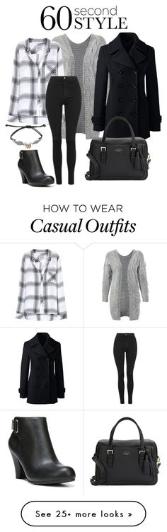 """Fall casual #3"" by marinemartin on Polyvore featuring Sans Souci, Rails, Topshop, Lands' End, Kate Spade, Warner Bros. and Fergalicious"