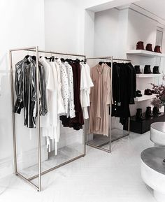 49 Modern Wardrobe Designs To Store Your Clothes In - 2020 Home design Boutique Design, Design Shop, Boutique Decor, Shop Front Design, Shop Interior Design, Retail Design, Walk In Closet Design, Wardrobe Design, Closet Designs