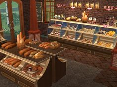 Mod The Sims - Antique Bakery Set - Decorative foods and more