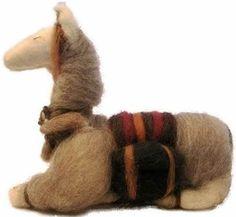 Llama realizada en lana de oveja natural con aguja de fieltro  http://idea.me/proyecto/3368/numuarteydiseno
