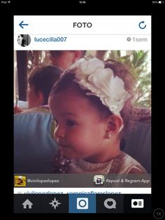 Baby Vero. Floral headband. Christening