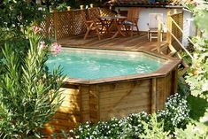 Check out this neat photo - what an imaginative project Above Ground Pool Landscaping, Above Ground Pool Decks, In Ground Pools, Oberirdischer Pool, Diy Swimming Pool, Holz Wallpaper, Piscina Pallet, Creative Deck Ideas, Decks Around Pools
