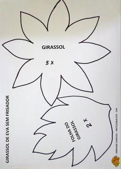 E.V.A. Moldes e Idéias: GIRASSOL DE E.V.A. SEM FRISADOR