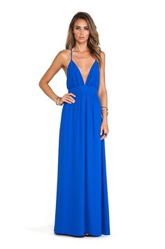 Lovers + Friends Good As Gold Maxi Dress in Cobalt | REVOLVE