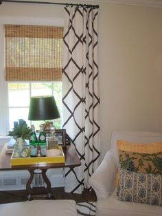 ribbon cross pattern curtains