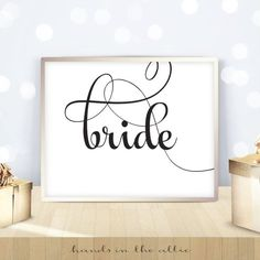 Bride sign wedding printable signs sweetheart table head top table bride and groom wedding reception instant download DIGITAL by HandsInTheAttic